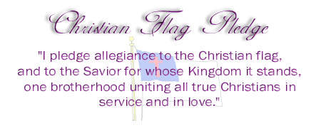 Pleage to the Christian Flag